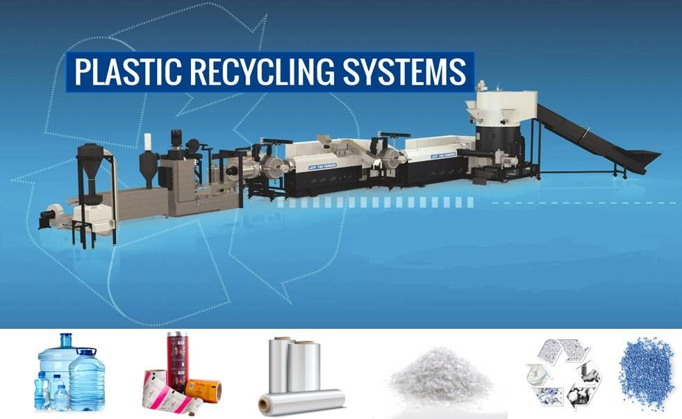 Plastic Recycling System for PP, PE films in UAE, Egypt, Saudi Arabia, Kuwait, Qatar, Oman, Lebanon, Yemen